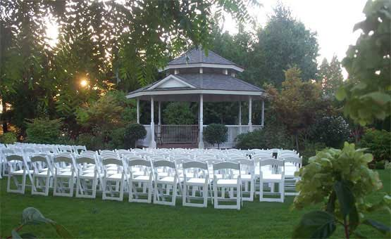 Thomas Kincaid inspired Outdoor Garden Gazebo wedding venue